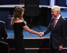 Bill Clinton i Melania Trump w trakcie debaty prezydenckiej
