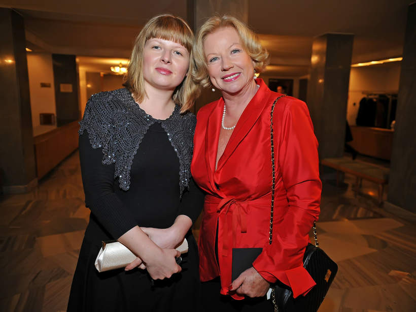 Bożena Dykiel z córką Marią, 15-lecie Polsatu, 11.12.2007 rok