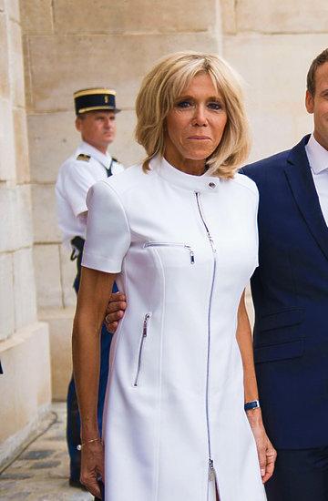 Brigitte Macron, Donald Trump, Emmanuel Macron, Malenia Trump, wpadka Donalda Trumpa z Birgitte Macron