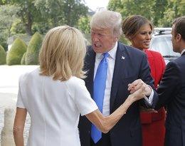 Brigitte Macron, Donald Trump, wpadka Donalda Trumpa z Birgitte Macron