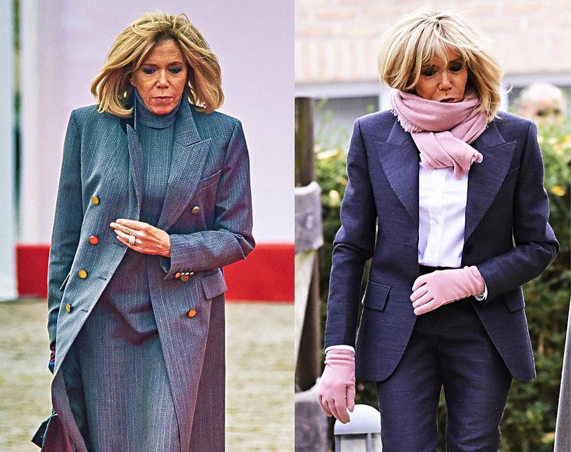 Brigitte Macron w trakcie wizyty w Belgii z królową Mathilde