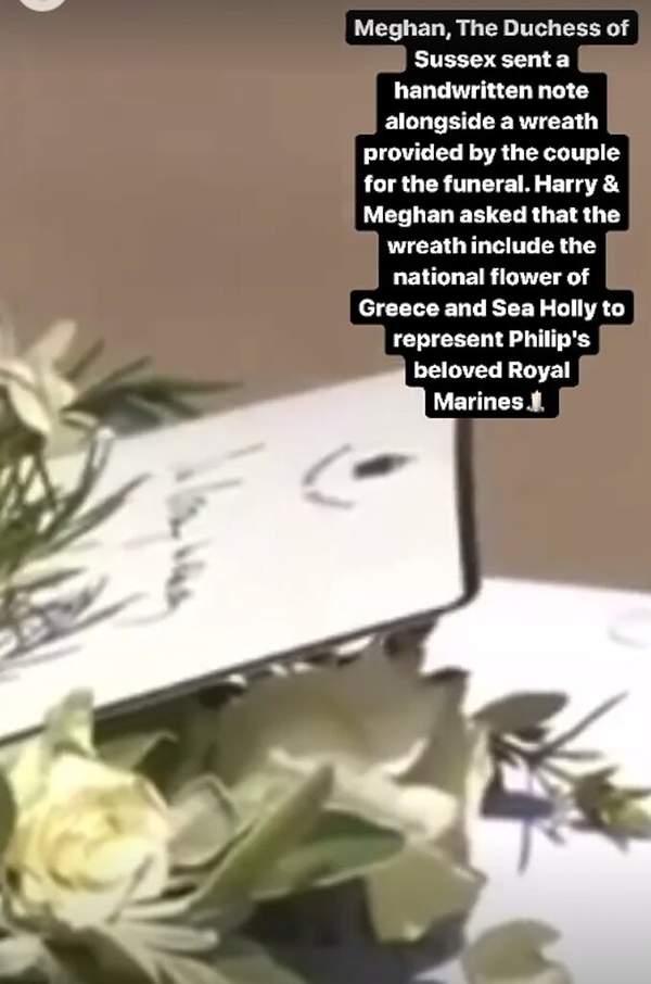 Bukiet od księcia Harry'ego i Meghan Markle. Pogrzeb księcia Filipa