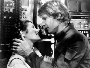 Carrie Fisher i Harrison Ford