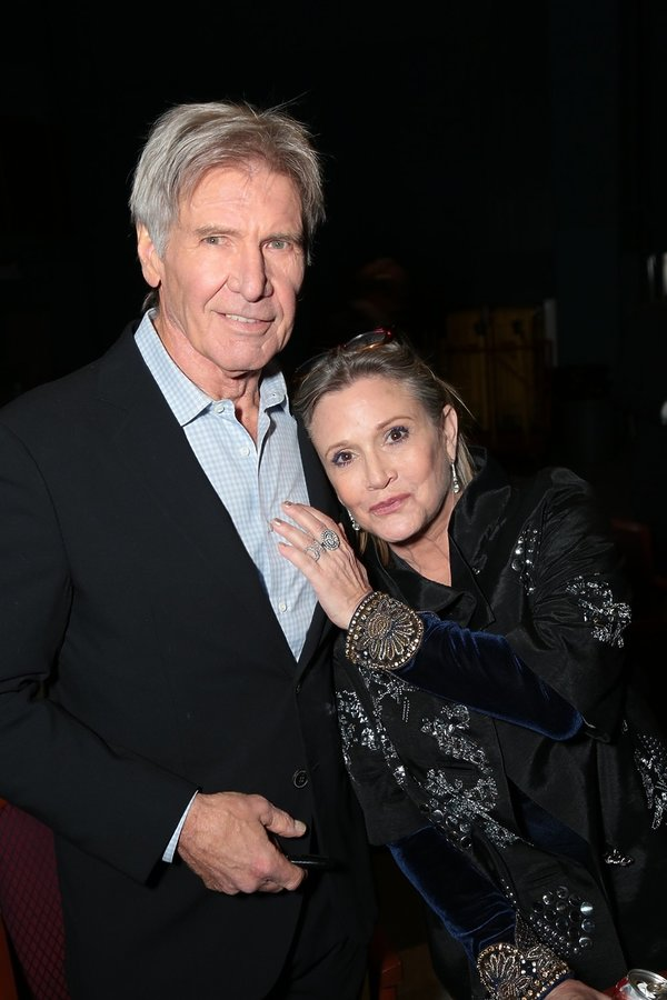 Carrie Fisher i Harrison Ford na premierze filmu