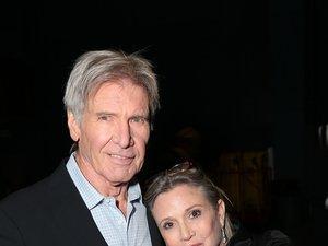 """Carrie Fisher i Harrison Ford na premierze filmu """"Gwiezdne Wojny: Przebudzenie mocy"""""""