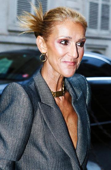 Celine Dion opuszcza Crillon hotel w Paryżu, Francja