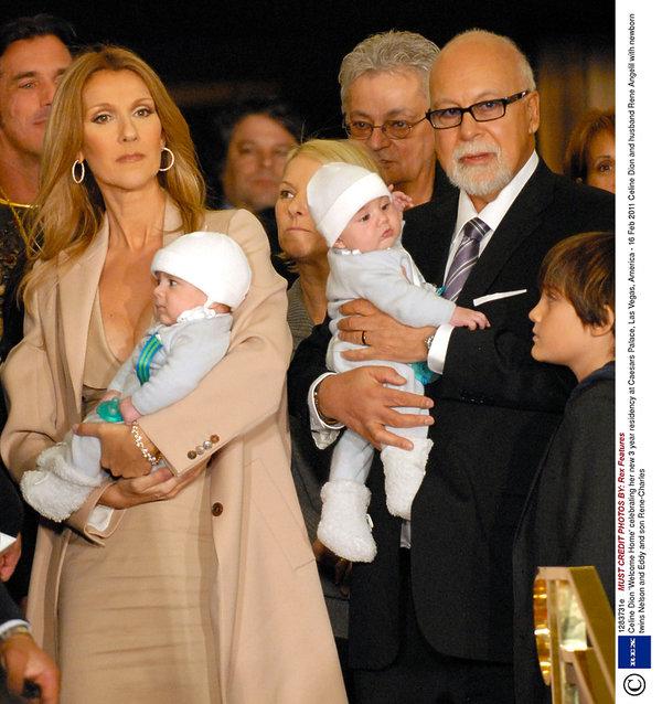 Celine Dion, Rene Angelil, Nelson Angelil, Eddy Angelil