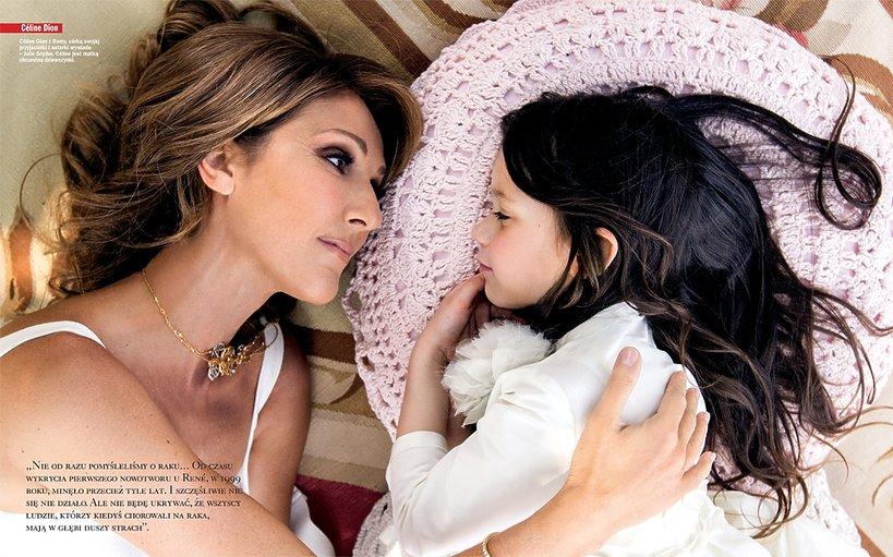 Celine Dion z córką przyjaciółki,