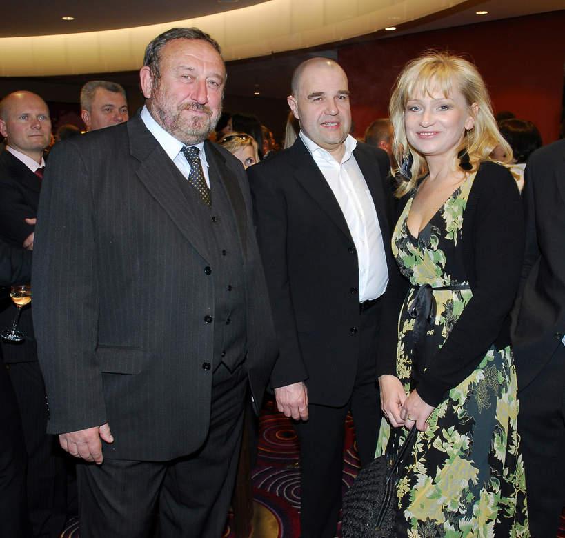 Cezary Żak, Tadeusz Drozda, Katarzyna Żak, otwarcie hotelu Hilton w Warszawie, 17.04.2007 rok