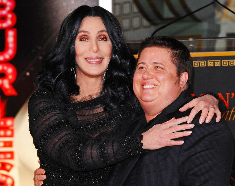 Cher i Chaz Bono, jej syn, który był córką Chastiti