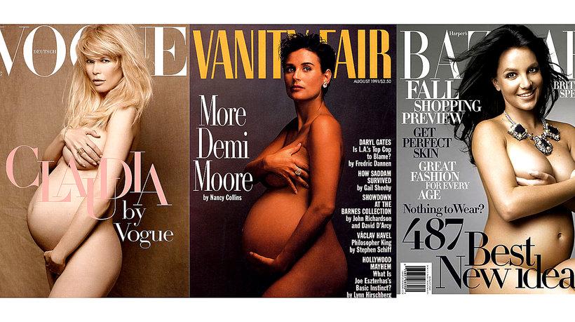 Ciążowe okładki zagranicznych gwiazd