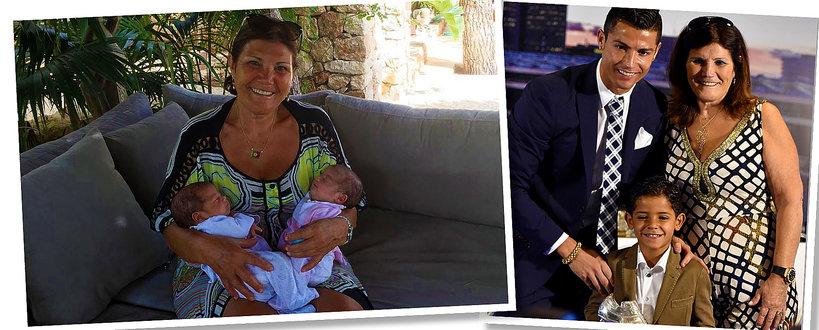 Cristiano Ronaldo, dzieci Cristiano Ronaldo, matka Cristiano Ronaldo z dziećmi, Dolores dos Santos