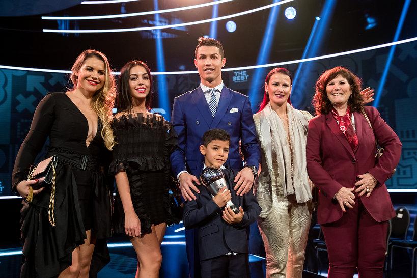 Cristiano Ronaldo, Georgina Rodriguez, Cristiano Ronaldo Junior, Dolores Dos Santos