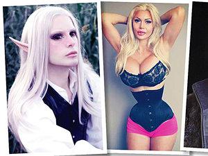 Człowiek Elf, Kobieta z najwęższą talią, Żywy Ken i Kobieta Kot - ofiary operacji plastycznych
