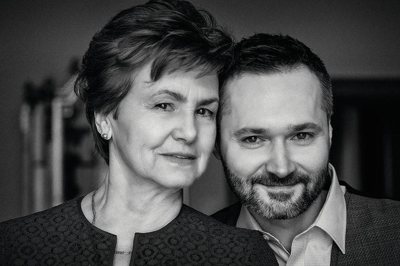 Danuta Wałęsa z synem Jarosławem Wałęsą