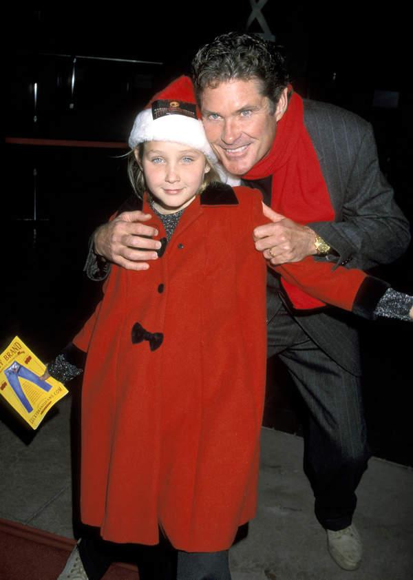 David Hasselhoff, córka Davida Hasselhoffa Hayley Hasselhoff, Kalifornia, USA, 03.12.1999 rok