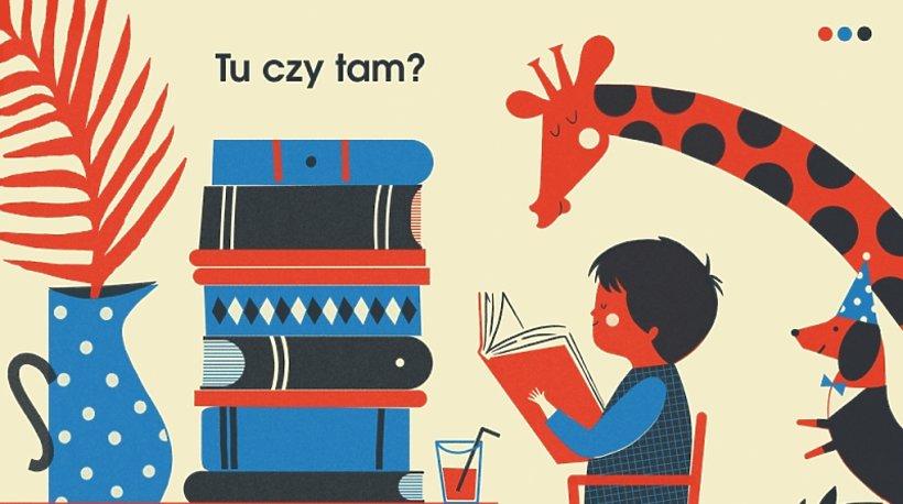 """Dawid Ryski plakat do wystawy """"Tu czy Tam"""""""