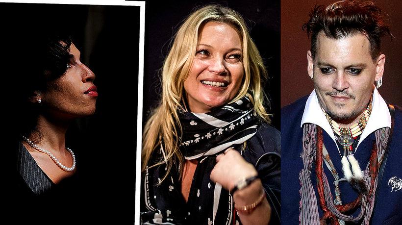 Depp, Winehouse,  Moss