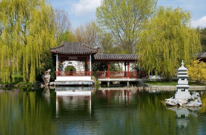 dom japoński w parku