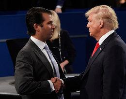 Donald Jr. Trump, Donald Trump ściskają sobie dłonie
