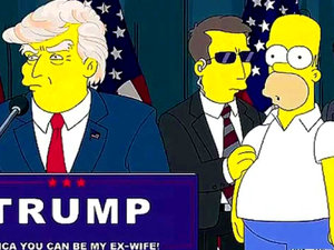 Donald Trump i Homer Simpson w The Simpsons
