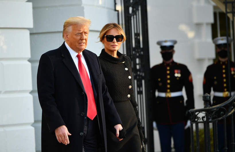 Donald Trump, Melania Trump, 20.01.2021 r.
