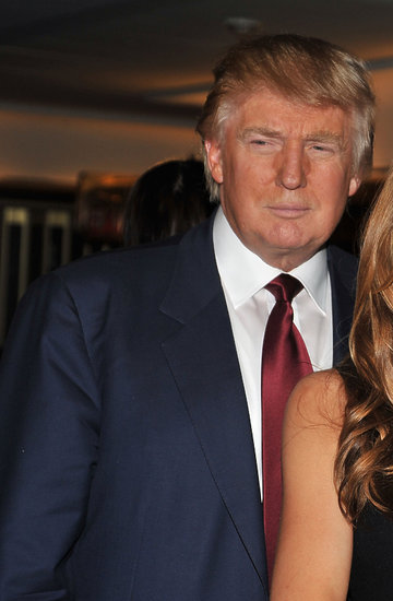 Donald Trump, Melania Trump i Barron Trump na wspólnym zdjęciu