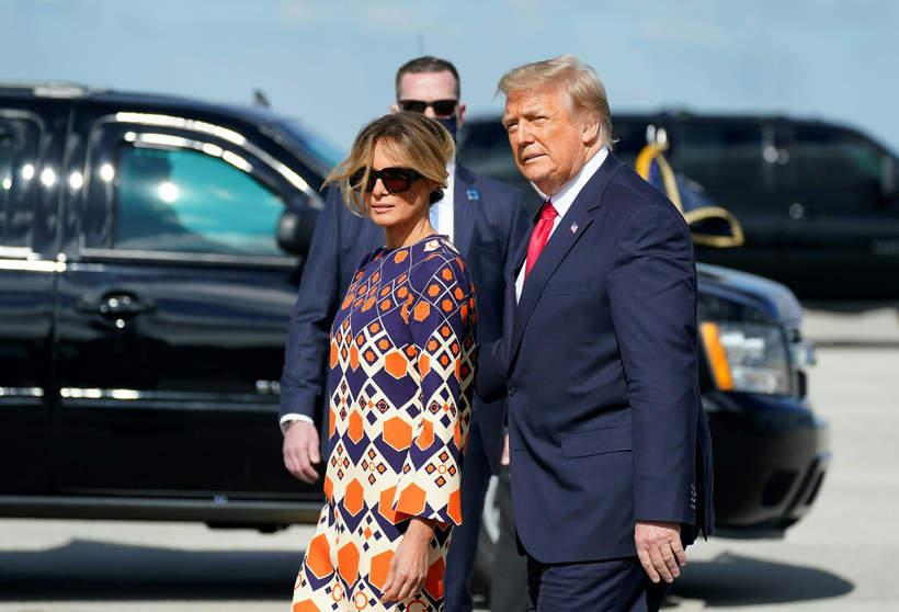 Donald Trump, Melania Trump na Florydzie, 20.01.2021 rok