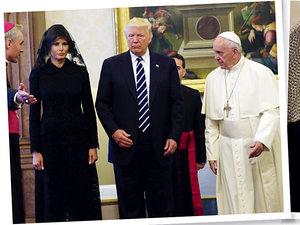 Donald Trump, Melania Trump, papież Franciszek, Trumpowie spotkali się z Franciszkiem
