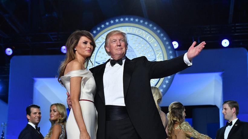 Donald Trump, Melania Trump, zaprzysiężenie Donalda Trumpa, bal inauguracyjny Trumpa