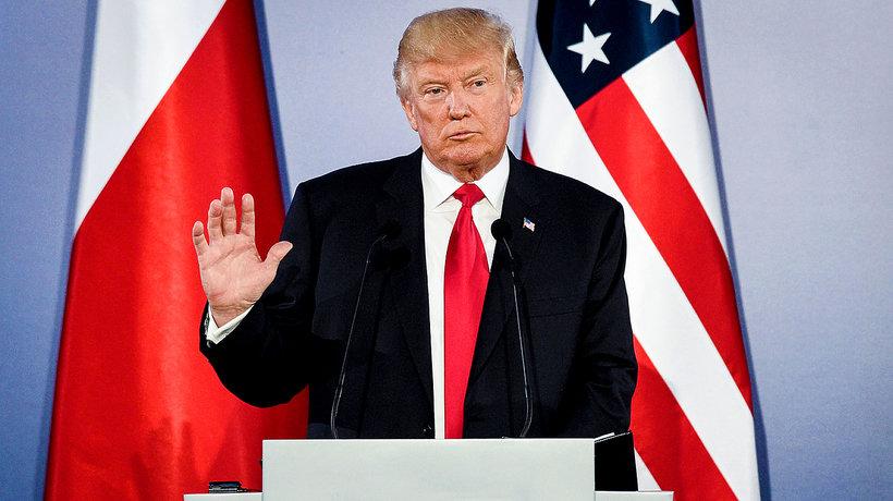 Donald Trump w Polsce, przemówienie