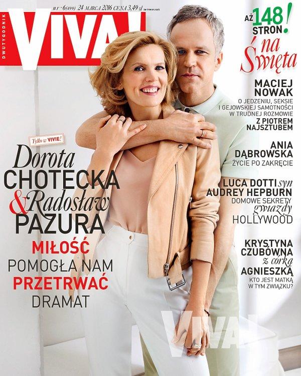 Dorota Chotecka i Radosław Pazura, VIVA! marzec 2016