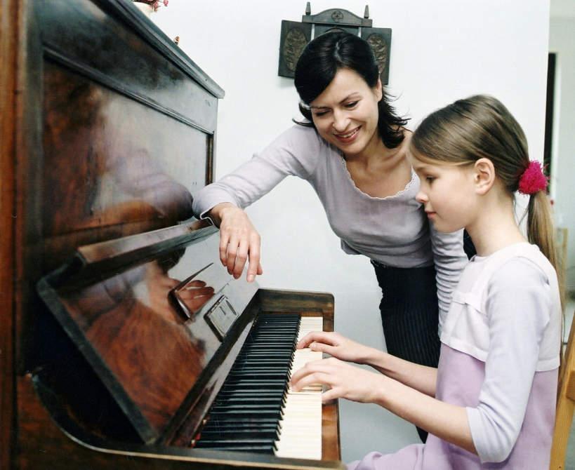 Dorota Stenka z córką Pauliną Grzelak, lata 90.