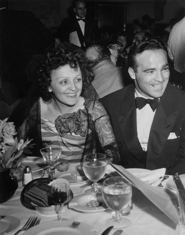 Edith Piaf, bokser Marcel Cerdan, 22.09.1940