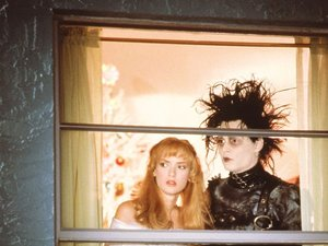 EDWARD SCISSORHANDS, Winona Ryder, Johnny Depp, 1990