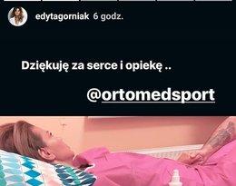 Edyta Górniak przeszła zabieg artroskopii w Warszawie