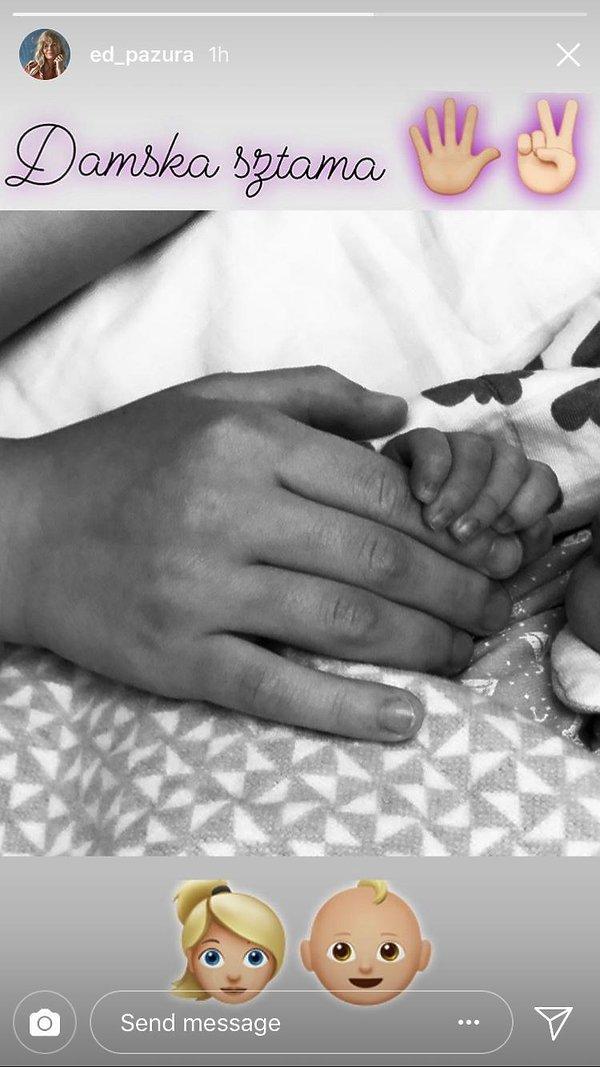 Edyta Pazura pokazała pierwsze zdjęcie po porodzie