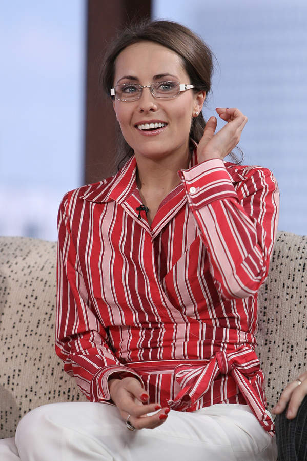 Elisabeth Duda na planie programu Dzień Dobry TVN, 6.05.2008, Warszawa