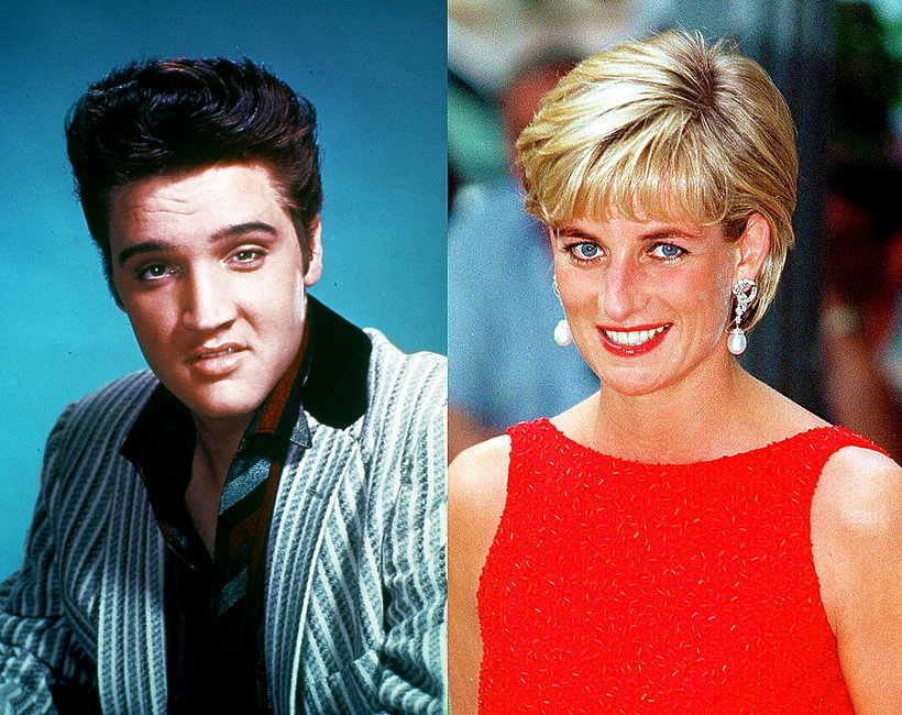 Elvis Presley, księżna Diana,
