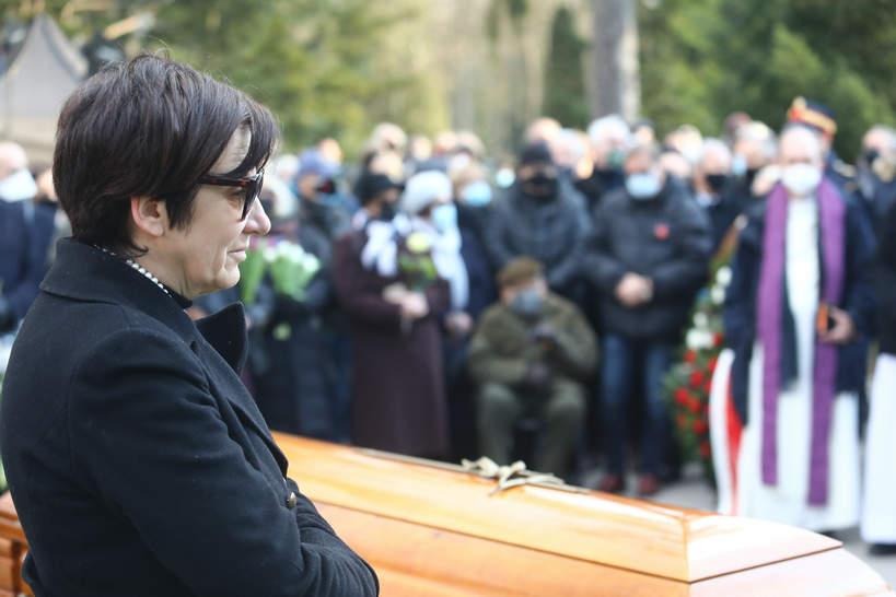 Elżbieta Bogucka-Lityńska, pogrzeb Jana Lityńskiego, 10.03.2021 rok