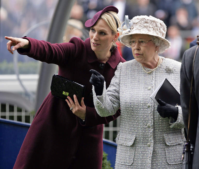 Elżbieta II, królowa Elżbieta II, Zara Phillips, Zara Tindall, 20.10.2012