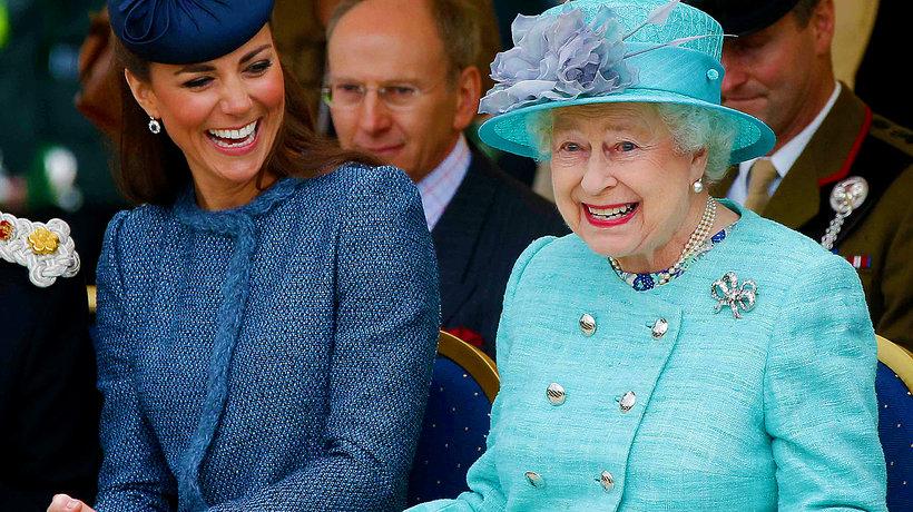 Elżbieta II, księżna Kate, Kate Middleton, królowa Elżbieta II