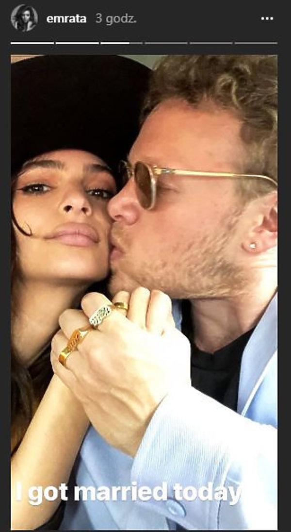Emily Ratajkowski wyszła za mąż. Kim jest mąż modelki?