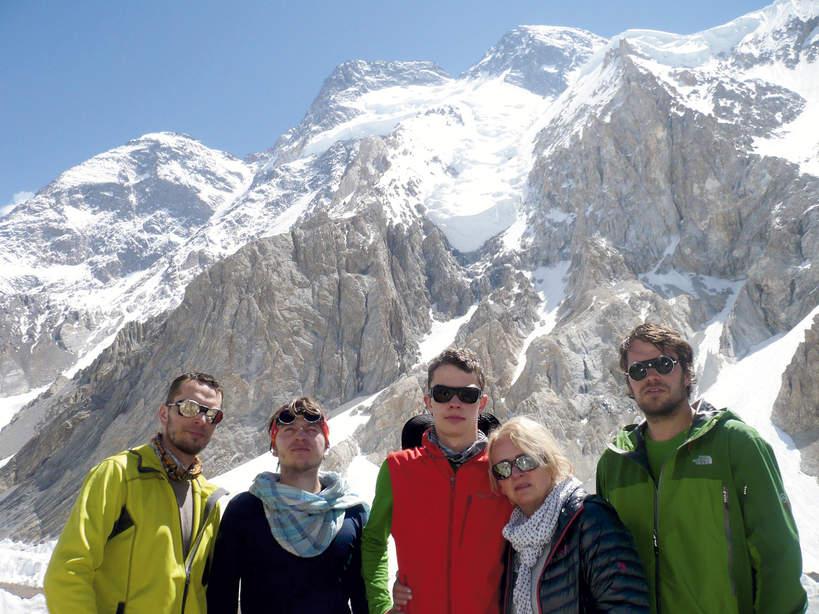 Ewa Berbeka, Krzysztof Berbeka, Franciszek Berbeka, Jan Berbeka i Stanisław Berbeka, baza pod Broad Peak