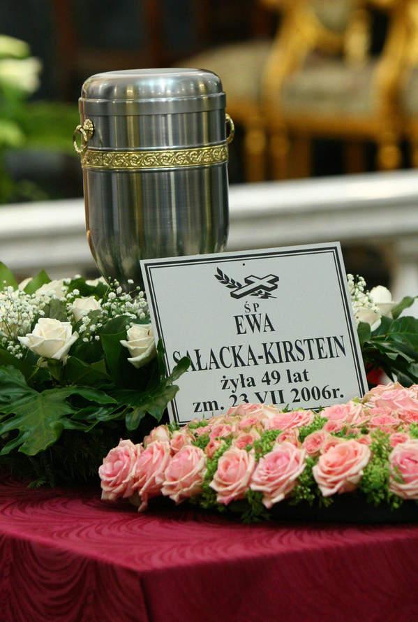 Ewa Sałacka, pogrzeb Ewy Sałackiej, 01.08.2006