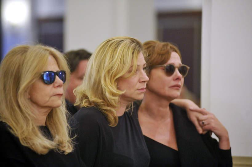 Ewa Zadrzyńska, Zuzanna Głowacka, Olena Leonenko, 10.09.2017 Warszawa, msza w intencji zmarłego Janusza Głowackiego