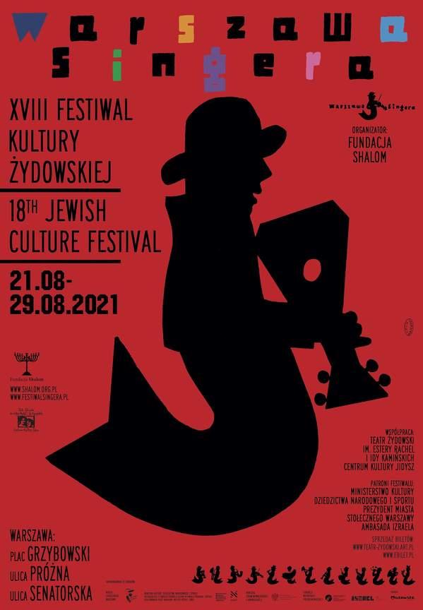 Festiwal Kultury Żydowskiej, Festiwal Singera, David D'Or, plakat 2021
