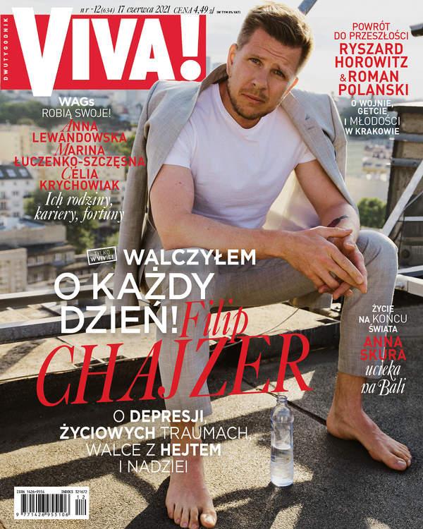 Filip Chajzer, VIVA! 12/ 2021; Filip Chajzer, VIVA! czerwiec 2021 okładka, OKŁADKA