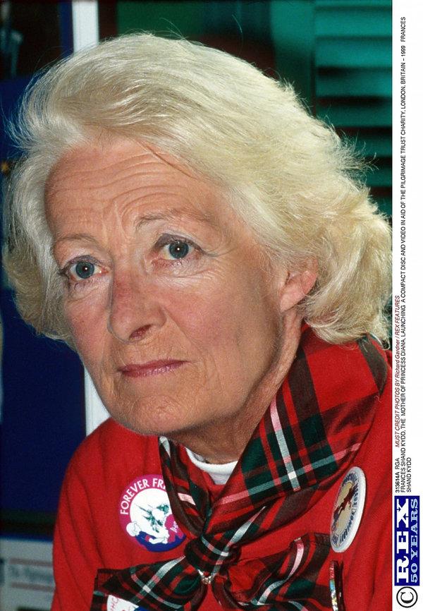 Frances Shand Kydd, matka księżnej Diany