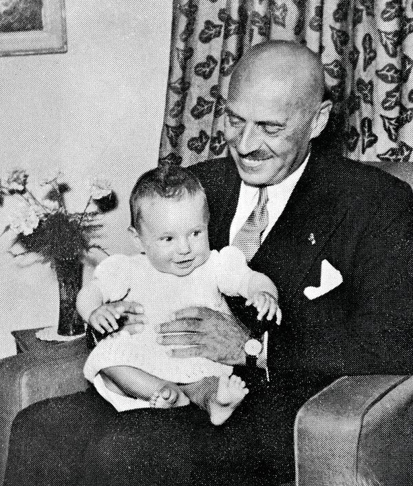 Generał Anders z córką, 1953 r, Londyn